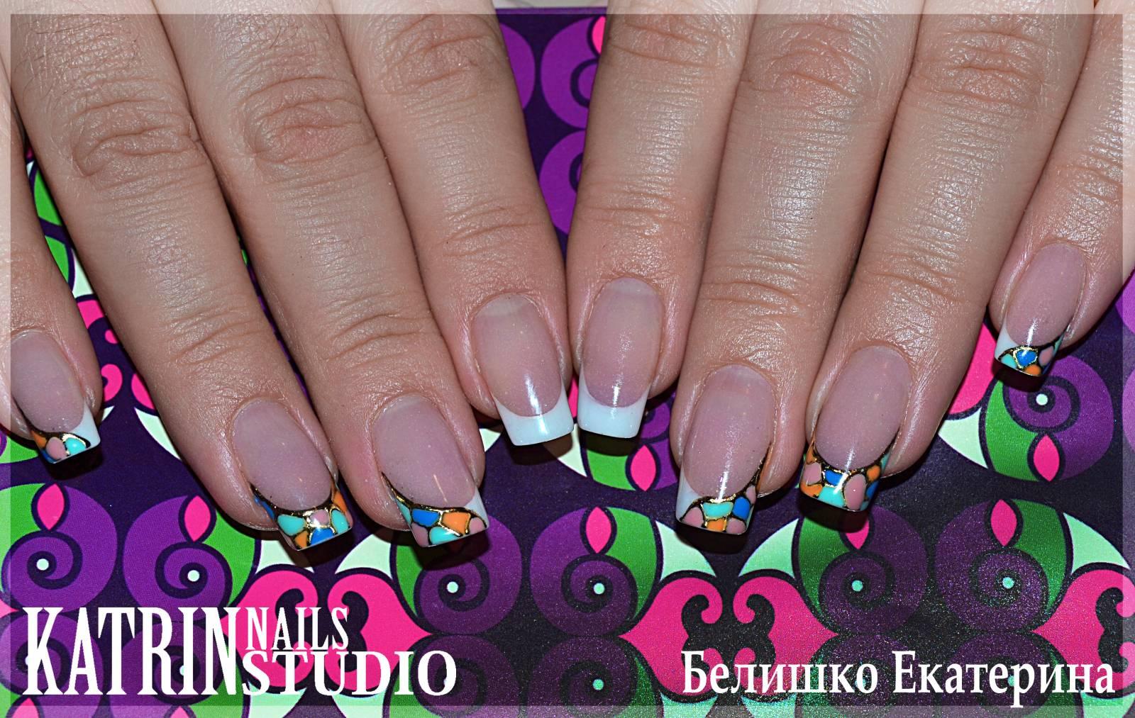 Фото мозайка на ногти